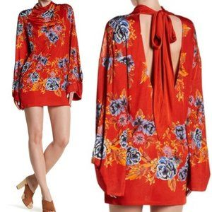 FREE PEOPLE New RARE $168 Red Floral Mini Dress